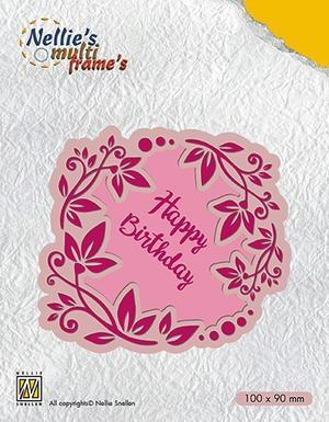 """Flower wreath Happy Birthday"""
