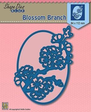 "Shape Dies Blue ""blossom branch"""