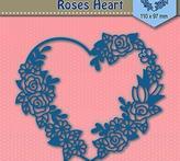 "Shape Dies Blue ""roses heart"""