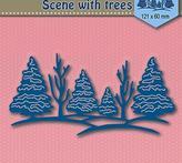 "Shape Dies Blue ""Scene with trees"""