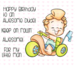 C.C. Designs Roberto's Rascals My Big Wheels Clear Stamp