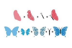 "3D Clear Stamps ""butterflies""."