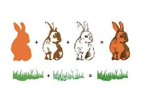 """3D Clear Stamps """"Rabbit""""."""