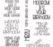 C.C. Designs Birthday Wishes Sentiments Clear Stamp