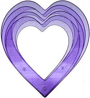 4914 Super-Sized Hearts ShapeTemplate