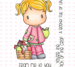 C.C. Designs Swiss Pixie Apple Lucy Clear Stamp