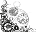 Kugghjulshörn med klockor