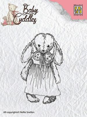 """Clear Stamps Baby Cuddles """"Cuddly Girl"""""""