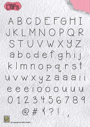 "Clear stamps alphabet ""Lars"""
