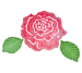 Rose and Leaves (set of 3)