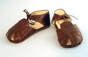 3851 - Brun lädersandal