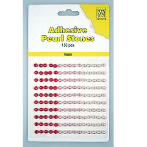 Adhesive Pearl Stones - 4 mm - Red