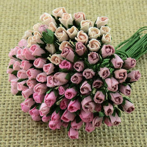 100 Mixed Mulberry Rosebuds - Pink