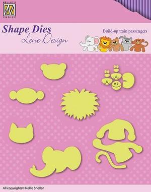 """Shape Dies Lene Design Baby-serie """"train passengers"""""""