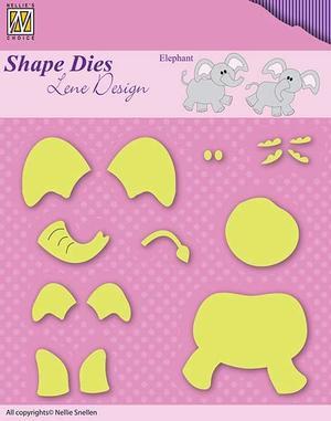"""Shape Dies Lene Design Baby-serie """"build-up elephant"""""""