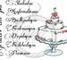 Tårta med texter