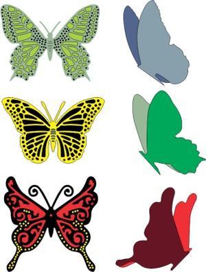 Small Exotic Butterflies w/Angel Wings
