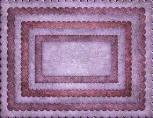 A2 Frames Rectangular Scalloped (Set of 7)