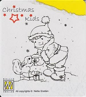 Clear Stamps Christmas Kids, Present for you