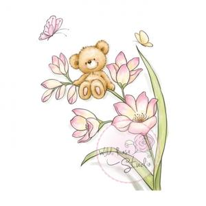 Clear Stamp Bear on Flower